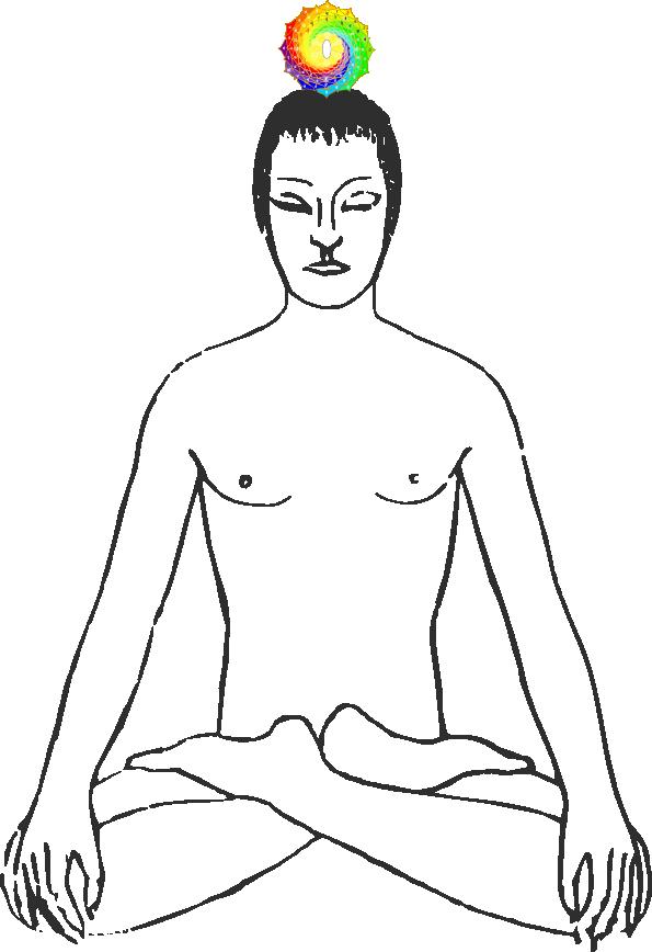 Yogi mit Sahasrara-Chakra