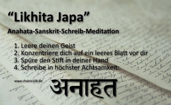 Likhita Japa Meditation für Anahata